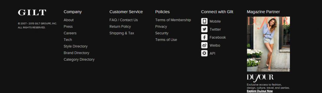 Gilt Member Homepage