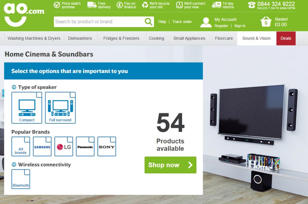 Home Cinema Soundbars from ao.com