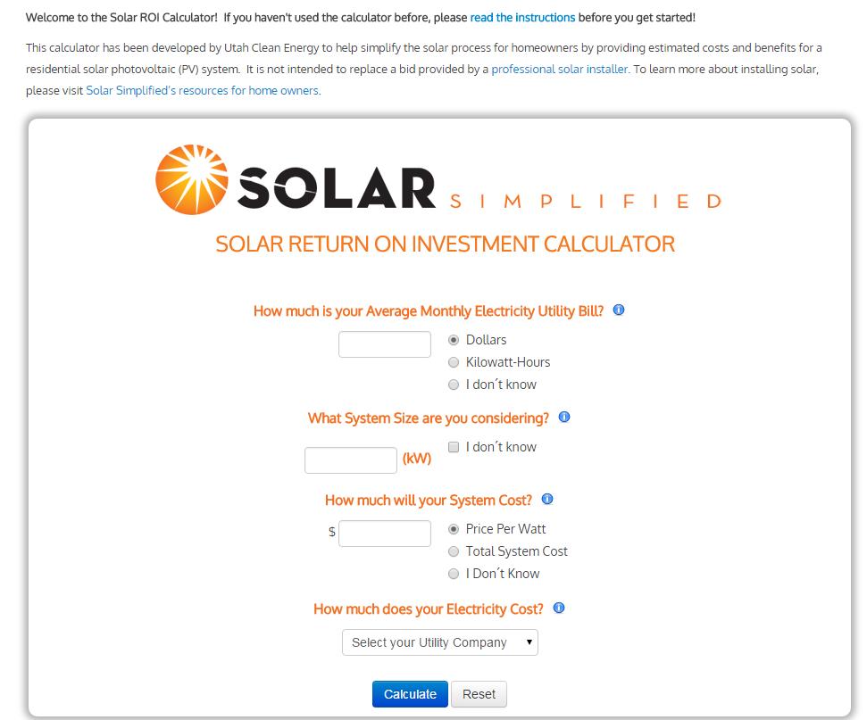 Solar Investment Calculator