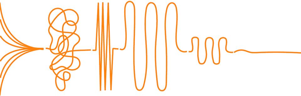 Il processo di User Centered design parte come una linea confusa e diventa gradualmente una soluzione lineare, attraverso diversi passaggi di lavorazione.