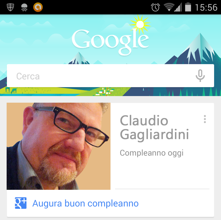 Google Now compleanno
