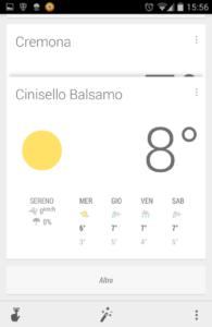 Google Now Meteo