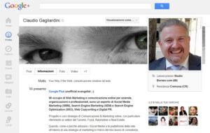 Googleplus, profilo utente