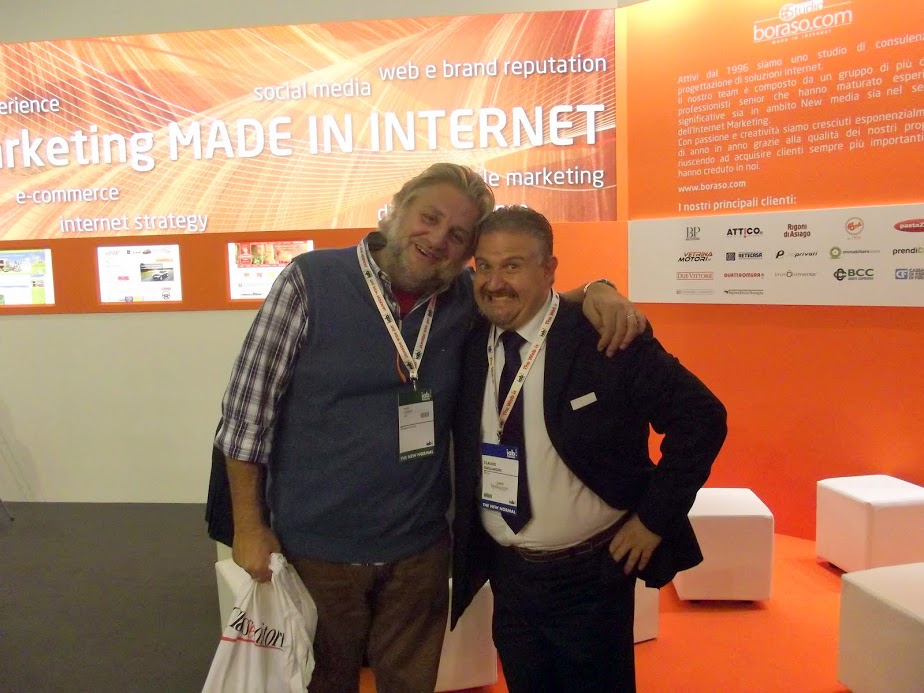 Marco Zamperini insime a Claudio Gagliardini, a SMAU 2011