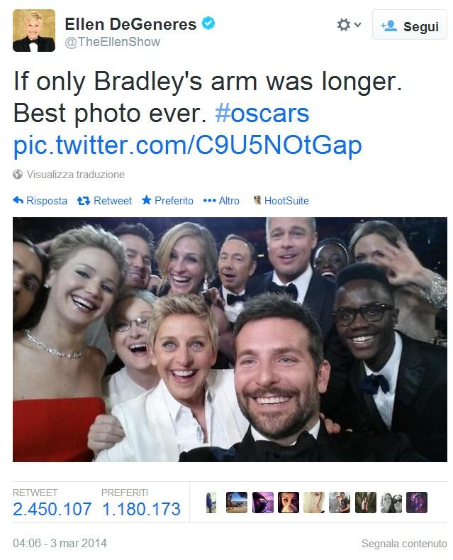 Ellen DeGeneres Selfie Oscar 2014