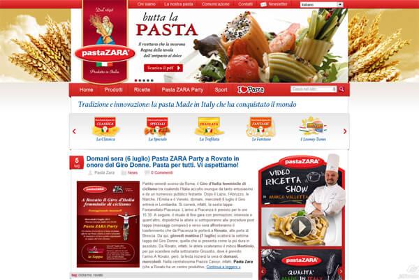 Pasta Zara nuovo sito by Boraso.net