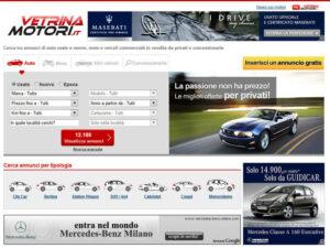 Vetrinamotori.it homepage
