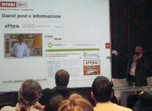 Una fase del Workshop Boraso.com a SMAU Milano
